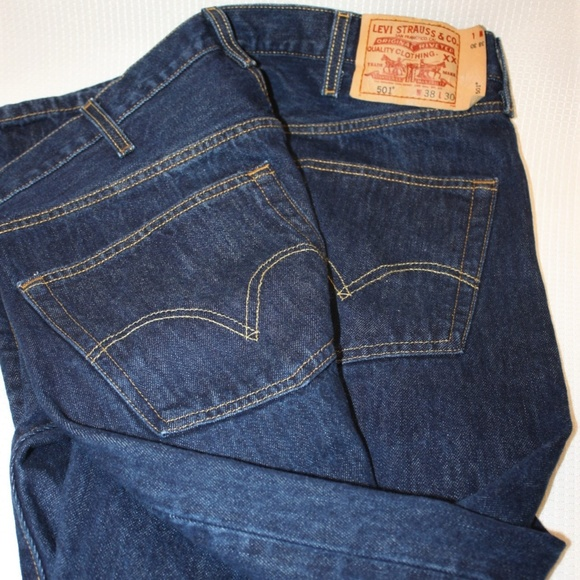 c0692b0f Levi's Jeans | Levis 501 Button Fly 36 X 29 Dark Wash Measured ...